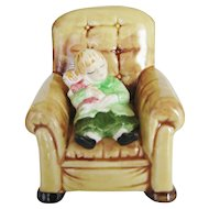 Department 56 Figurine - Child In Large Chair - Made In Japan