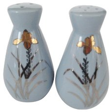 Japan Blue Salt and Pepper Shakers With Original Box