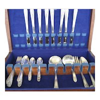 39 Pcs. Crown Radiance Silverplate With Chest - 1939