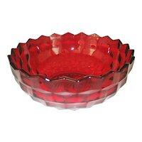 Fostoria American Ruby Red Bowl