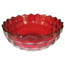 Fostoria American Ruby Red Bowl