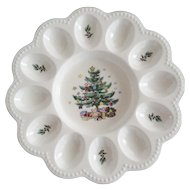 Nikko Japan Christmas Egg Plate