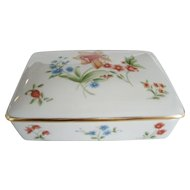 Hand Painted Ceramic Playing Card Dish - 2 Decks of Cards