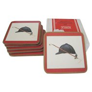 "Box of 6 Pimpernel ""Riding Hat"" Acrylic Coasters"
