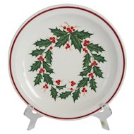 Set of 8 Homer Laughlin Best China Restaurant Ware - Christmas Holly