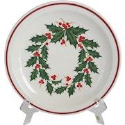 Set of 8 Homer Laughlin Best China Restaurant Ware - Christmas Holly