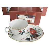 "Lenox ""Winter Greetings"" Snack Sets - NIB - 4 Available"