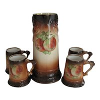 Owen Minerva Tankard and  4 Mugs