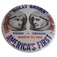 NASA Molly Brown First Two Man Orbit Pin