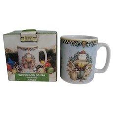 Debbie Mumm Woodland Santa Jumbo Mug