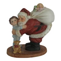 Homco Santa & Little Boy Figurine