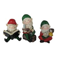 Set of 3 Homco Elves