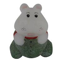 Fenton Christmas Hippo