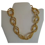 Anne Klein Chunky Double Circle Goldtone Necklace