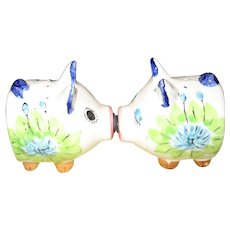 Kissing Pigs Salt & Pepper Shakers - Japan