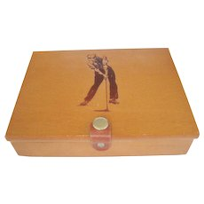 Golf Playing Cards With Wooden Box