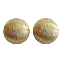 Monet Gold-tone Button-type Clip Earrings