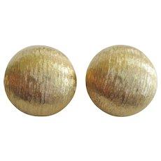 Monet Gold-tone Button-type Clip Earrings
