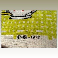 1973 Linen HBI Calendar Towel Coffee motif