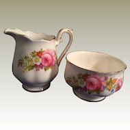 Royal Albert  Porcelain  Cream and Sugar floral pattern