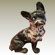 vintage Cast Iron Full Figure Bulldog Door Stop, possibly Hubley