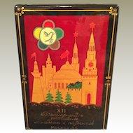 Russian Lacquer commemorative box MIB