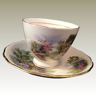 Royal Vale English bone china Cup and Saucer Cottage design