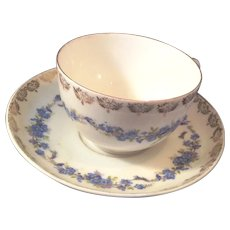 KPM made in Germany Cup and Saucer Blue Fowers