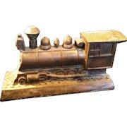Vintage 1950s metal Steam Engine Bank souvenir of Knotts Berry farm