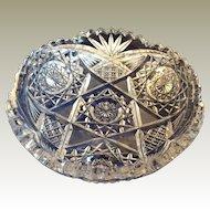 ABP American Brilliant Cut Glass Nappie multi design