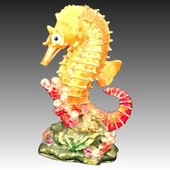 RUCINNI  Orange Seahorse trinket box accented with  Swarovski  CrystalsL