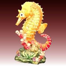 RUCINNI  Orange Seahorse trinket box accented with  Swarovski  CrystalsL