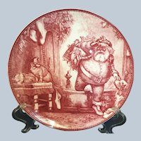 2002 Josiah Wedgwood & son Red Transfer Father Christmas plate for Williams Sonoma