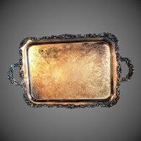 Community Oneida Silverplate Waiter Tray Ascot pattern