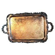 Community Oneida Silverplate Waiter Tray Ascot pattern