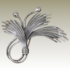 Vintage Danecraft 1950's Sterling silver 925 Wheat Pin Brooch