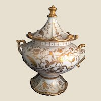 Robins Egg Blue porcelain Oversize covered Sugar Bowl