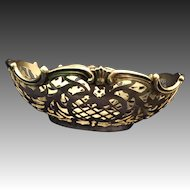 800 European Sterling reticulated Candy Nut dish
