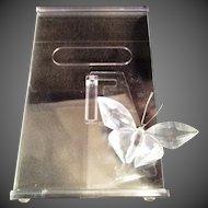 Swarovski Picture frame with Swarovski Crystal Butterfly Mint in box
