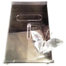 Swarovski Picture frame with Swarovski Crystal Butterfly Mint in box