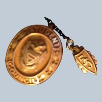 1955 Student Council Scholastic pin Spies 10/10kt gold filled