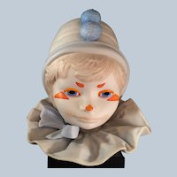 1976 Signed  CYBIS porcelain funny face Clown Head Figurine