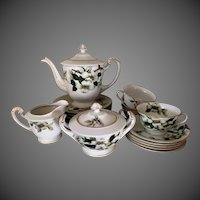 Mieto China Dogwood pattern 20 piece tea dessert set