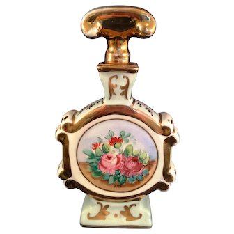 Amogee Porcelain Hand Painted Scent Perfume Bottle