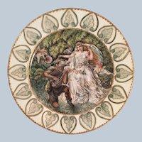 Antique Sevres  Porcelain Cabinet Plate  Donkey serenading a Bride