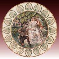 Antique Sevres   Porcelain Cabinet with Donkey serenading a Bride