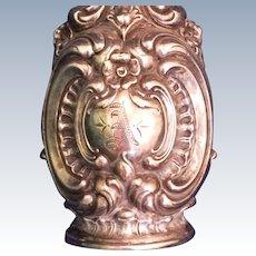 Whiting Sterling silver Salt Shaker ornate design