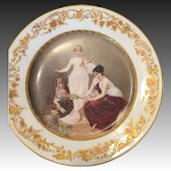 Sevres Porcelain Hand painted Plate the 3 Muses