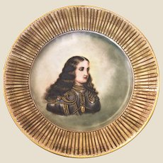 Sevres Porcelain Hand painted Cabinet Plate  Military officer