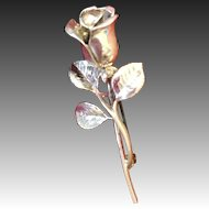 Sterling Silver Rose pin Brooch